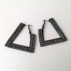LP Guess Geometric Rhinestone Earrings